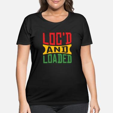 Afro Dreadlocks Rasta Locs Rastafari - Women's Plus Size T-Shirt