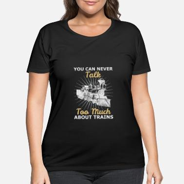 Training Trains trains - Women's Plus Size T-Shirt