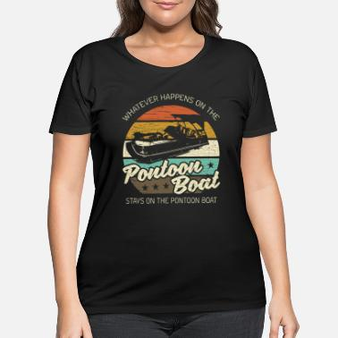 Boat Pontoon Boat - Women's Plus Size T-Shirt