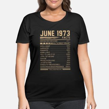 june 1973 facts birthday t shirts - Women's Plus Size T-Shirt