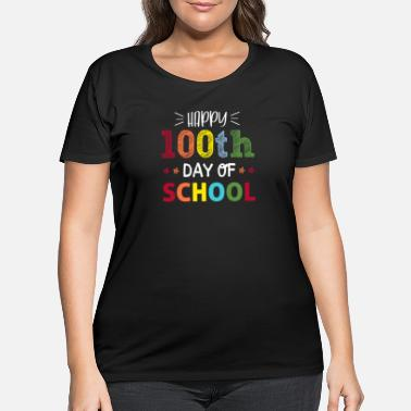 School 100 days smarter - funny school print - perfect - Women's Plus Size T-Shirt