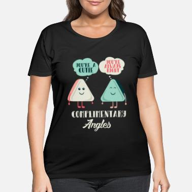 Quadrat Math Teacher: Flirting Complementary Angles - Women's Plus Size T-Shirt