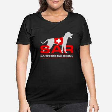 Search K-9 Search and Rescue - Women's Plus Size T-Shirt