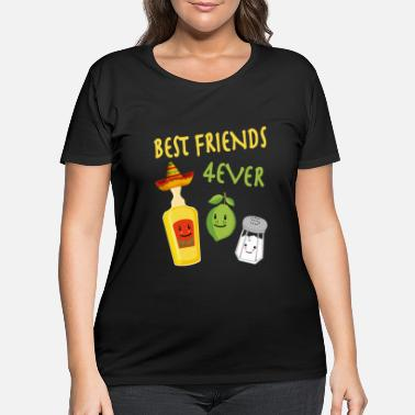 Best friends tequila lemon salt alcohol - Women's Plus Size T-Shirt