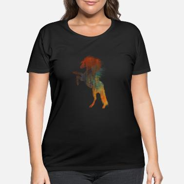 Wild Horse Colored wild horse - Women's Plus Size T-Shirt