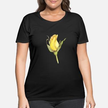 Yellow yellow rose - Women's Plus Size T-Shirt