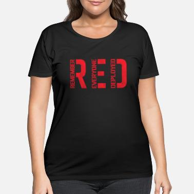 Navy Red friday - red- remember everyone deployed - Women's Plus Size T-Shirt