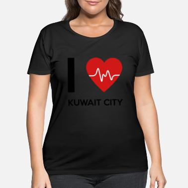 Kuwait City I Love Kuwait City - Women's Plus Size T-Shirt