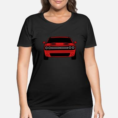 Challenger Dodge Challenger,car,vehicles,v8, ✔ - Women's Plus Size T-Shirt