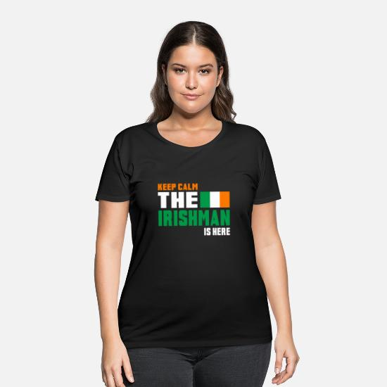 Patriot T-Shirts - Keep Calm Ireland / Gift National Colors - Women's Plus Size T-Shirt black