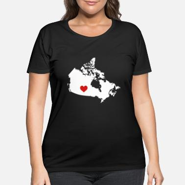 Island My Heart belongs in Canada - Women's Plus Size T-Shirt