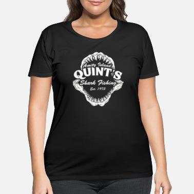 Vintage Quint's Shark Fishing Amity Island - Women's Plus Size T-Shirt