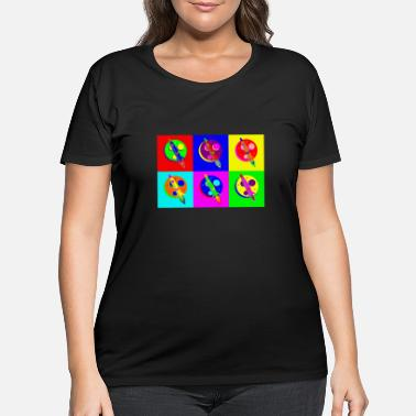 Popartcontest Rocket Moon Pop Art - Women's Plus Size T-Shirt