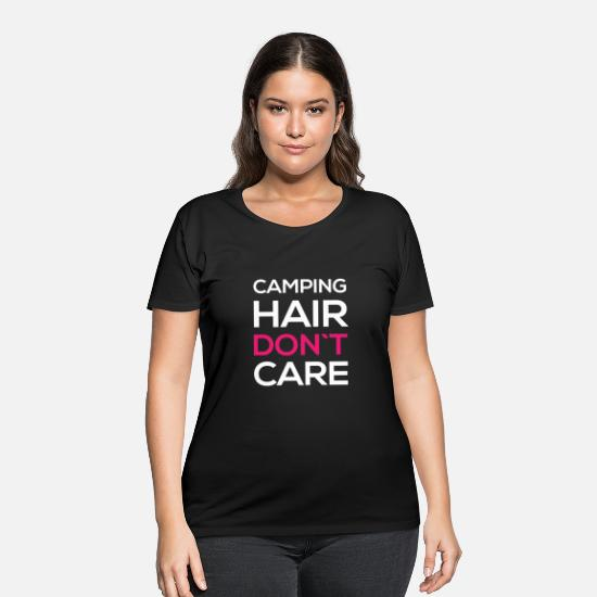 Camping Tshirt T-Shirts - Camping hair don't care - Women's Plus Size T-Shirt black