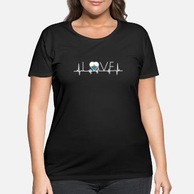 San Marino home roots queen love from heart San Marino png - Women's Plus Size T-Shirt