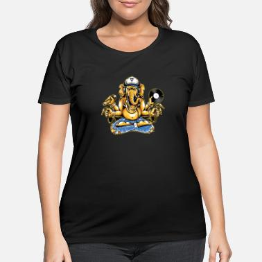Dj DJ Party God Ganesha - Women's Plus Size T-Shirt