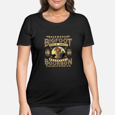 Brand Backwoods Bigfoot Bole-Aged Breakfast Bourbon - Women's Plus Size T-Shirt