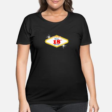 Vegas Las Vegas Style 18th Birthday Gift Idea - Women's Plus Size T-Shirt