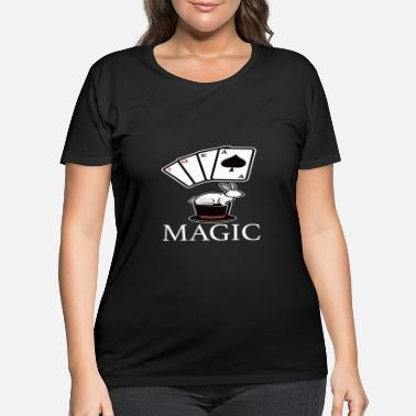 Magic Magic Magic Magic Card Trick - Women's Plus Size T-Shirt
