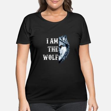 Wolfsburg i am the wolf animals amazon scare eat meat kill w - Women's Plus Size T-Shirt