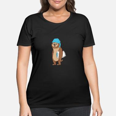Sleeping Sleeping Sloth Tired Nap Sleep Sloth Lazy Cute Slo - Women's Plus Size T-Shirt
