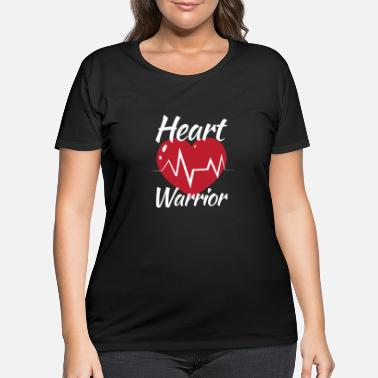 Heart Heart Warrior Heart Cardiologist Survivor For - Women's Plus Size T-Shirt