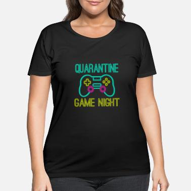 Game quarantine game night neon style - Women's Plus Size T-Shirt