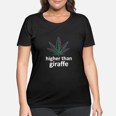 Grass Cannabis Smoker 420 THC - Women's Plus Size T-Shirt