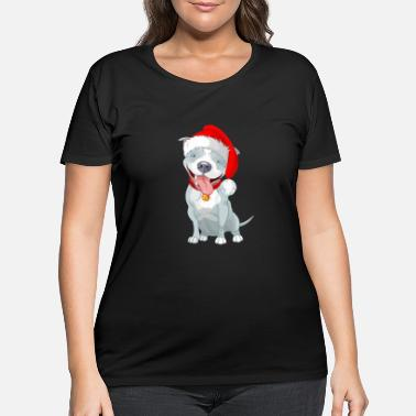 Pitbull Christmas Pitbull shirt - Funny pitbull tee shirt - Women's Plus Size T-Shirt
