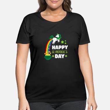 Day Funny St Patricks Day Leprechaun Party gift Paddy - Women's Plus Size T-Shirt