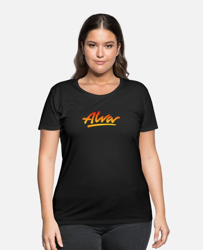 Game T-Shirts - NEW ALVA SKATEBOARD SKATE DECKS LOGO - Women's Plus Size T-Shirt black