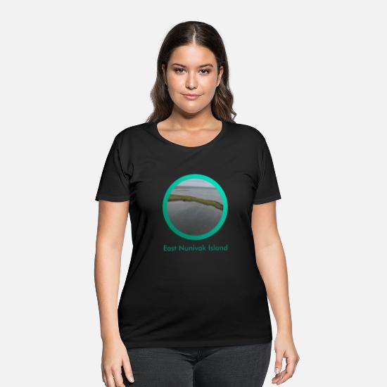 East Frisia T-Shirts - East Nunivak Island - Women's Plus Size T-Shirt black