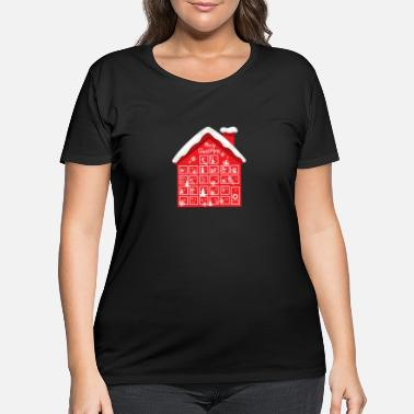 Advent Advent Calendar House - Women's Plus Size T-Shirt