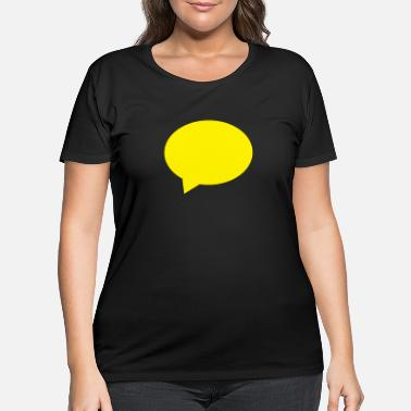 Speech Balloon balloon speech bubble speech balloon - Women's Plus Size T-Shirt
