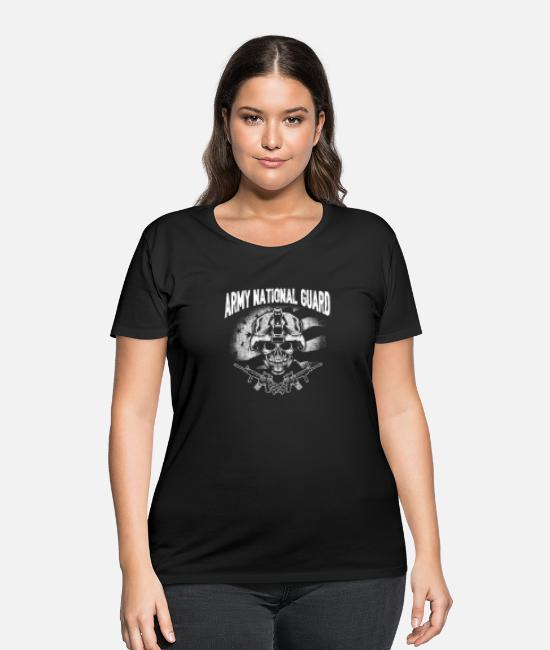 Army T-Shirts - Army national guard - T - shirt for guards support - Women's Plus Size T-Shirt black