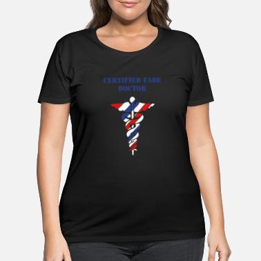 Doc THE FADE DOC IS IN - Women's Plus Size T-Shirt
