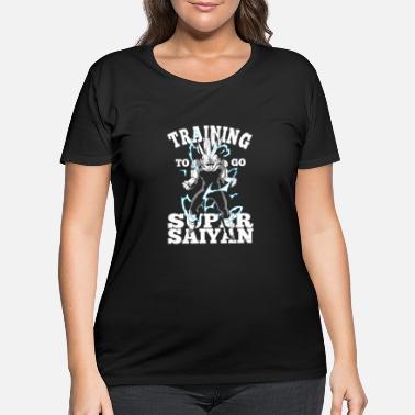 Training To Go Super Saiyan Inspired by Dragon Ball Printed T-Shirt