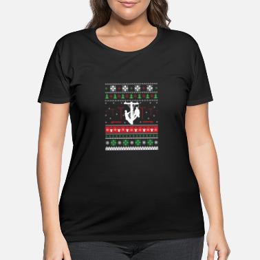 Lineman Christmas Lineman-Christmas sweater for lineman lovers - Women's Plus Size T-Shirt