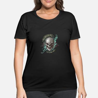 Aggression aggressive skull - Women's Plus Size T-Shirt