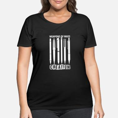 Pentecostal Pen lover - Weapons of mass creation - Women's Plus Size T-Shirt
