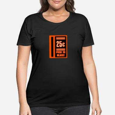 Neon Coin Slot - Women's Plus Size T-Shirt