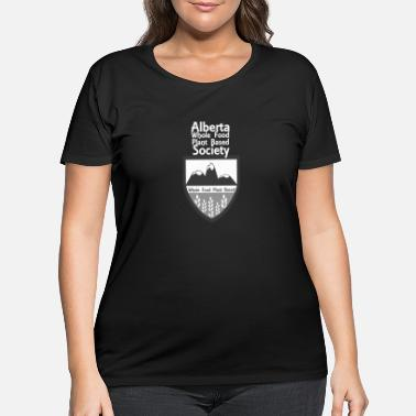 Alberta WFPB Society Logo with White Text - Women's Plus Size T-Shirt