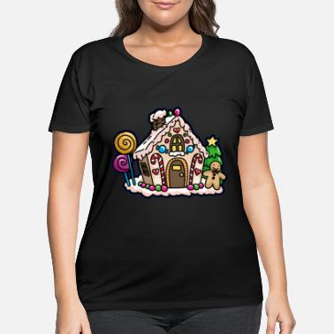 Gingerbread PRETTY GINGERBREAD HOUSE - Women's Plus Size T-Shirt