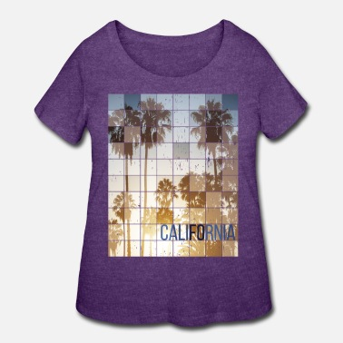 Skateboard Californa Sunset Cube Vintage - Women's Plus Size T-Shirt
