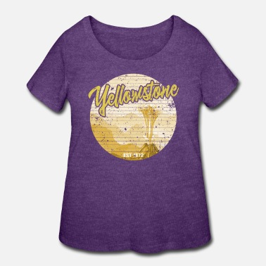 Geyser Yellowstone Geyser Vintage - Women's Plus Size T-Shirt