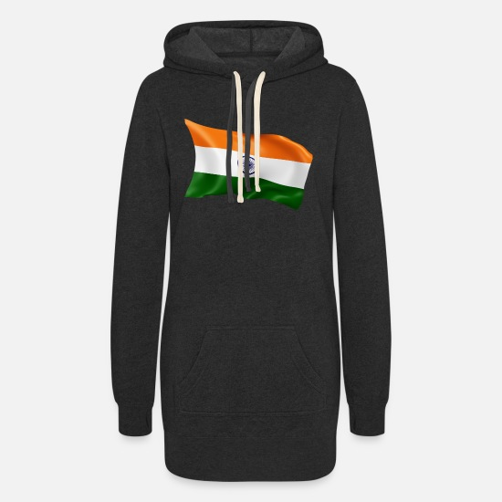 Chakra Hoodies & Sweatshirts - India - Women's Hoodie Dress heather black