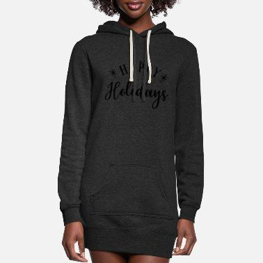 Stylish Happy Holidays - Women's Hoodie Dress