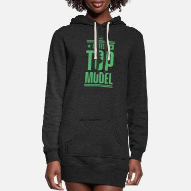 Model Modeling Top Model Model Fashion Model Catwalk - Women's Hoodie Dress