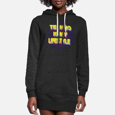 Trance techno is my lifestyle rave trance house electro - Women's Hoodie Dress