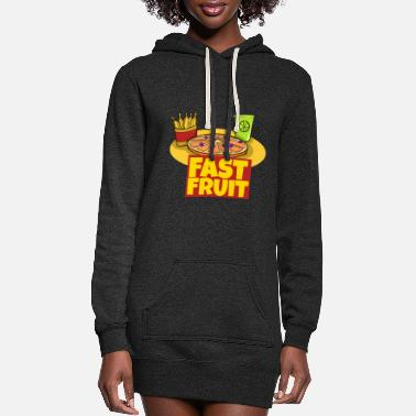 Fast Fast Fruit Fast Food - Women's Hoodie Dress